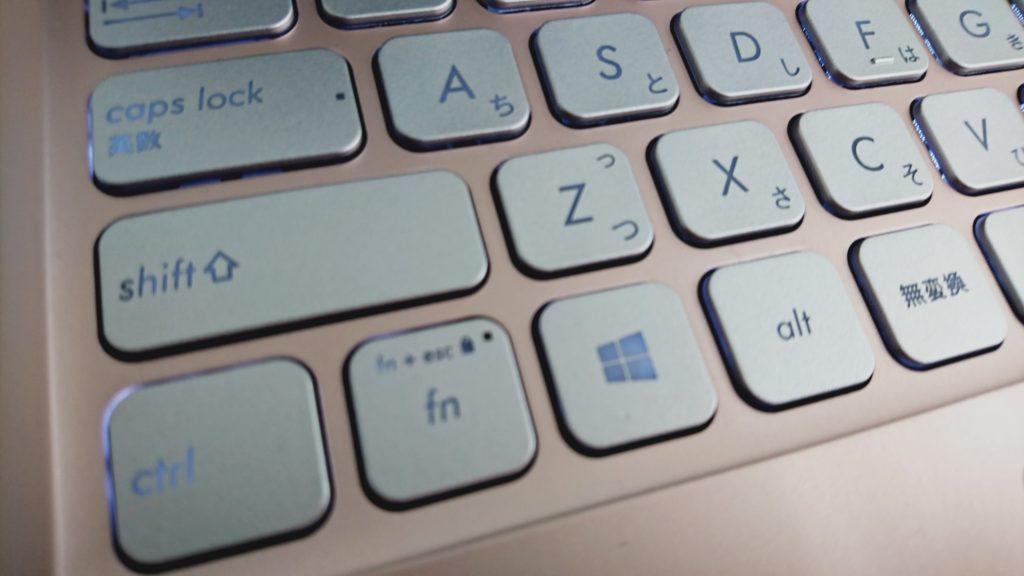 ASUS Vivobook S13のキーボードパッド